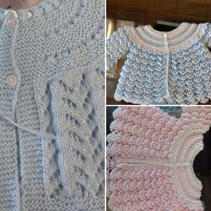 Other - Crochet baby jackets Handmade